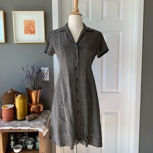 Vintage silk button down shirt dress